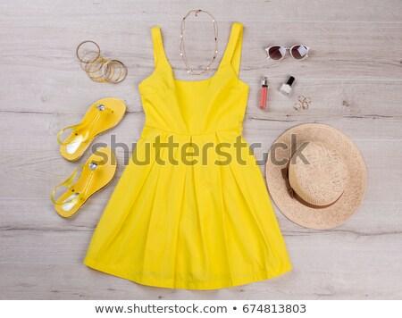 Lady помада лак для ногтей иллюстрация белый моде Сток-фото © get4net