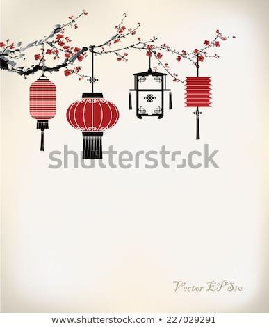 chinese lantern on tree Stock photo © smithore