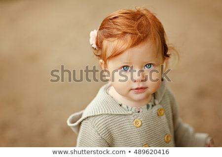 portre · kız · sonbahar · park · açık · atış - stok fotoğraf © Massonforstock