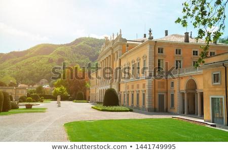 Италия статуя Villa садов небе синий Сток-фото © gant