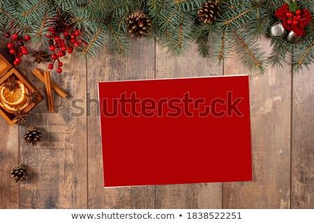 Bağbozumu Noel liste kitapçık yaşlanma Stok fotoğraf © 3mc