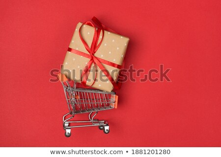 supermarket trolley, with a huge gift inside Stock photo © Pixelchaos