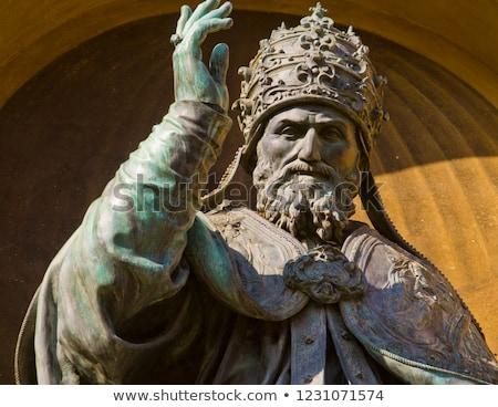 Pápa szobor városi ima történelem vallás Stock fotó © Studiotrebuchet
