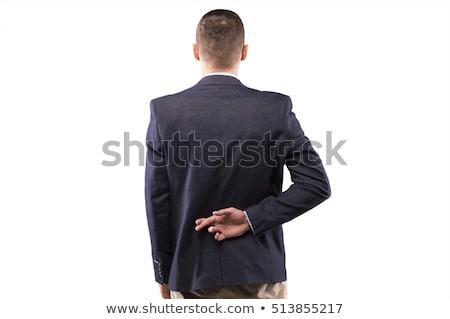 бизнесмен пальцы за назад костюм Сток-фото © RTimages