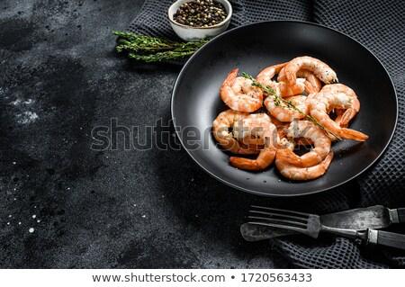 Gekruid garnalen gekookt specerijen taco Stockfoto © bendicks