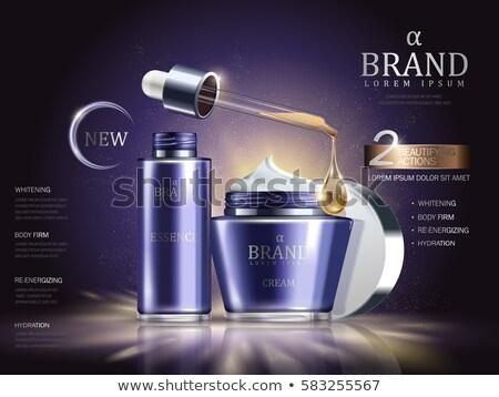 light purple cosmetic cream tube stock photo © ozaiachin