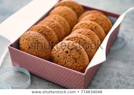 Finestra cookies rosso completo regalo mangiare Foto d'archivio © marylooo