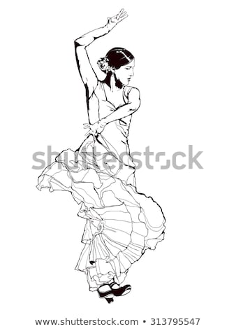 spanish dancer holding a fan stock photo © photography33