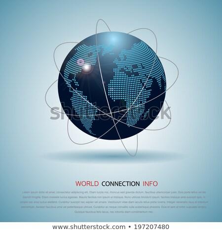 Kommunikation Welt global Commerce america Karte Stock foto © fenton