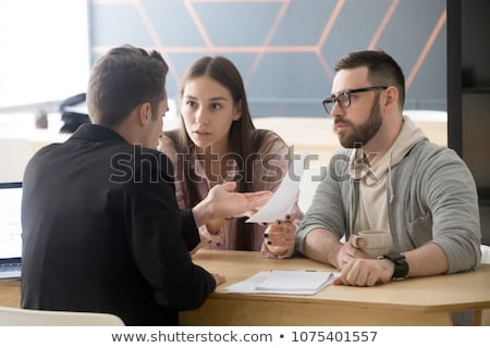 Lawyer unsure about the terms of a contract Stock photo © photography33