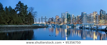 marina along stanley park in vancouver bc stock photo © davidgn