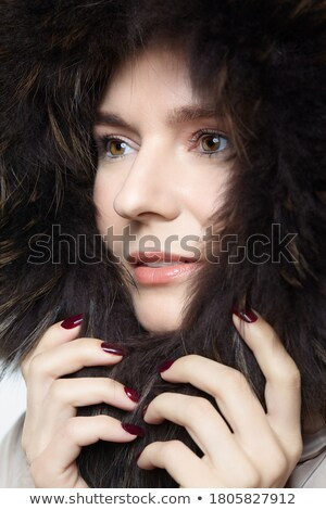 woman snug in a hood stock photo © photography33