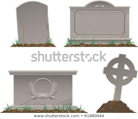 Celtic Cemetery stone Stock photo © bobkeenan