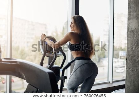 healthy woman using cross trainer stock photo © photography33