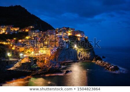 Dorp nacht zee kant huis reizen Stockfoto © johny007pan