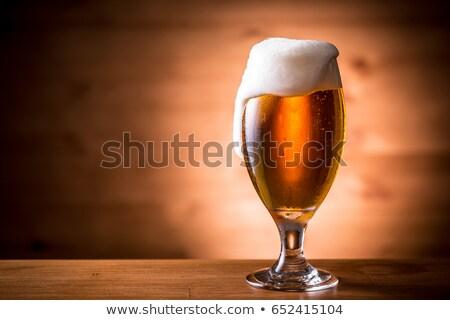 Iki lezzetli büyük gözlük bira cam Stok fotoğraf © Hofmeester