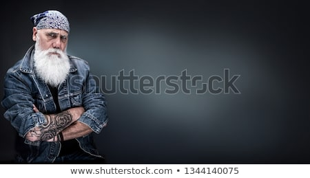 Szívós fickó drámai közelkép portré néz Stock fotó © curaphotography