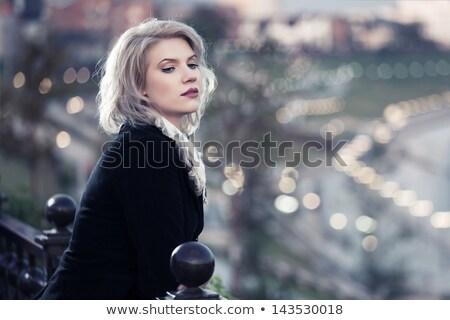 Genç kadın gece aşınma pembe kadın Stok fotoğraf © studiofi