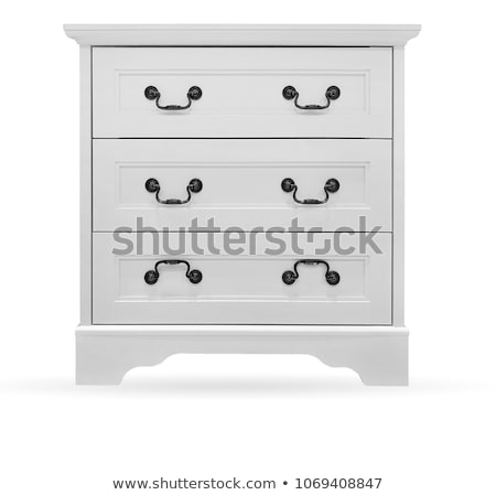 chest of drawers isolated with clipping path stock photo © ozaiachin