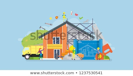 laborer in house under construction Stock photo © photography33