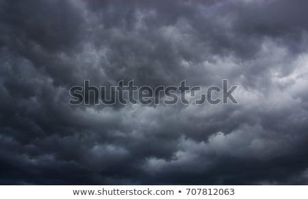 Donkere onweerswolken avond hemel zonsondergang natuur Stockfoto © pzaxe