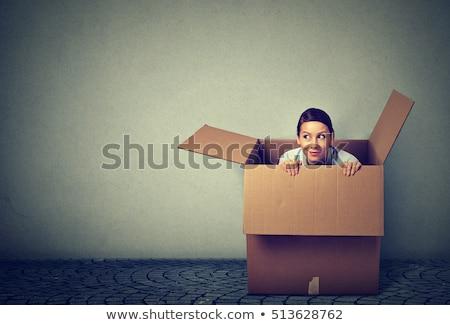 Denken buiten vak concept afbeelding verschillend Stockfoto © ivelin