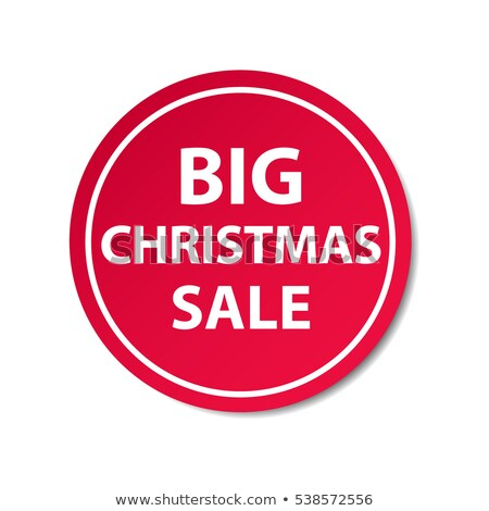 big sale and percentages symbols in red circle banner stock photo © marinini