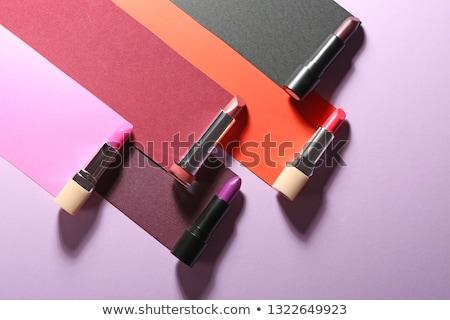 Lippenstift verschillend kleuren collectie witte Stockfoto © elly_l