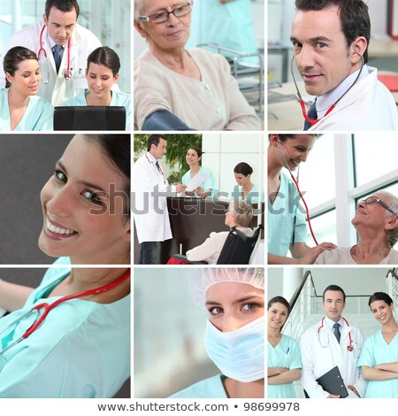 Hospital staff mosaic Stock photo © photography33