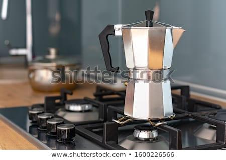 古い · コーヒー · ポット · 孤立した · 白 · 背景 - ストックフォト © rob_stark