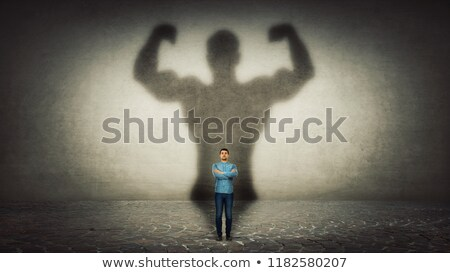 átalakulás illusztráció testépítő izom tömeg idő Stock fotó © AlienCat