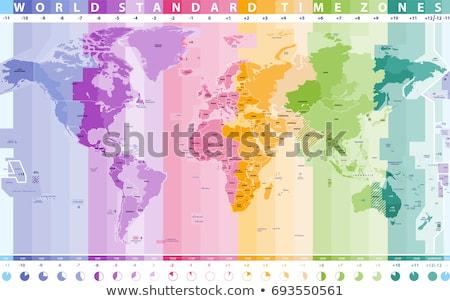 world time zone clocks stock photo © lightsource