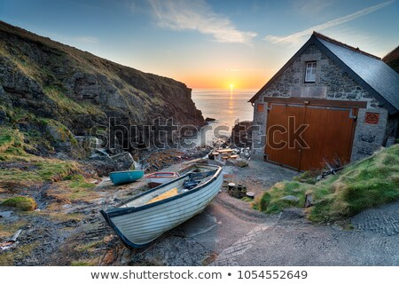 église · cornwall · vue · côte - photo stock © mosnell