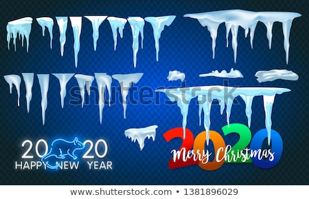 Groot Blauw witte sneeuw Stockfoto © pab_map