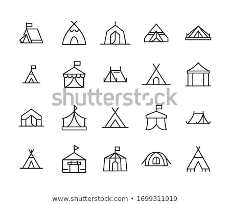 Vector icon tent and balloon stock photo © zzve