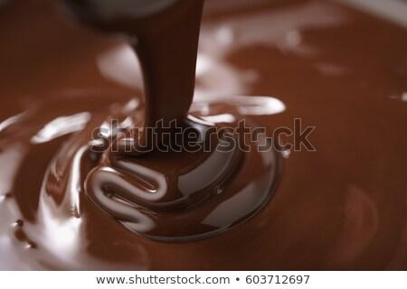 жидкость · темный · шоколад · чаши · 3d · визуализации · шоколадом - Сток-фото © Florisvis