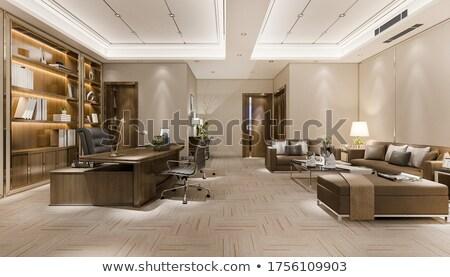 Shelf on luxury wallpaper stock photo © obradart
