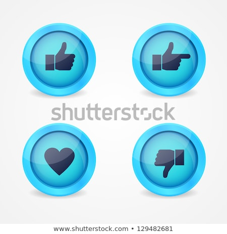 Resumen azul como botón mano Foto stock © rioillustrator