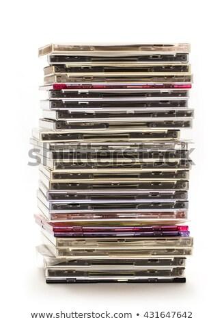 塔 cd のCD  白 音楽 背景 ストックフォト © Discovod