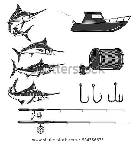 漁船 トローリング ロッド リール 青 地中海 ストックフォト © lunamarina