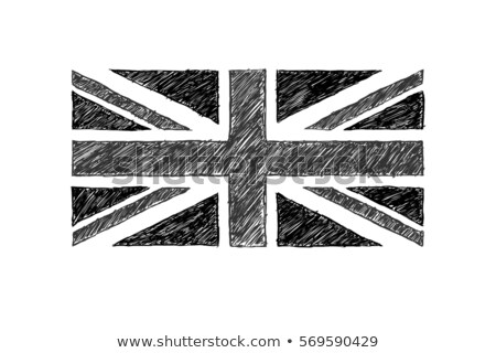 union jack flag drawn on white paper stock photo © latent