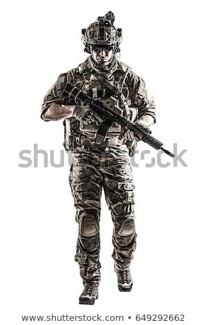 特別 兵士 黒 戦術的な スーツ 孤立した ストックフォト © Kirill_M