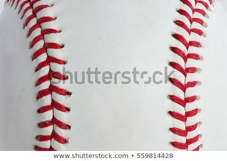 baseball · makro · shot · czerwony · przestrzeni - zdjęcia stock © milsiart