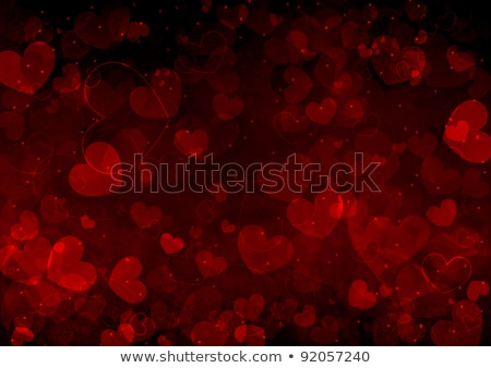 roze · harten · lichten · violet · veer · centrum - stockfoto © karandaev