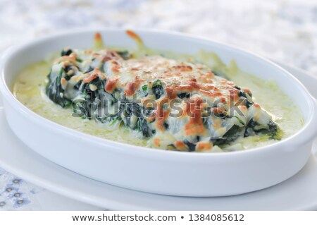 lasaña · espinacas · crema · cena · pasta · vegetales - foto stock © witthaya