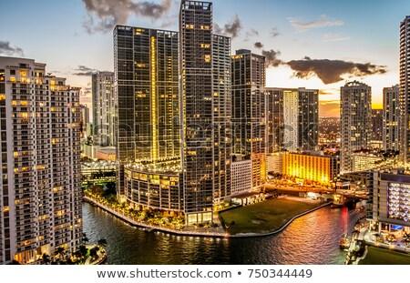 Híres kilátás Miami Florida USA üzlet Stock fotó © vwalakte