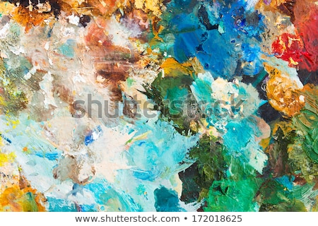 colorful background made oil paints on a wooden stock photo © vlad_star