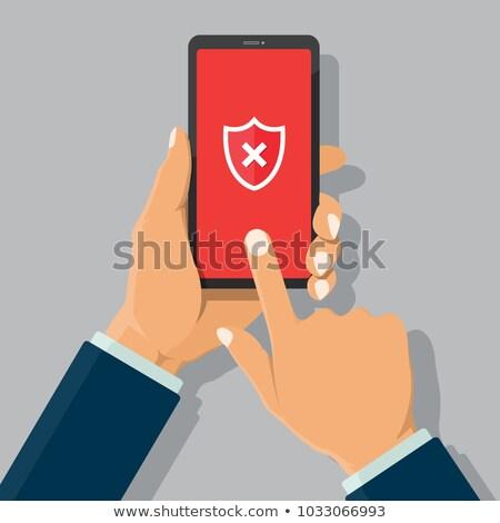 Data Protection on Red in Flat Design. Stock photo © tashatuvango