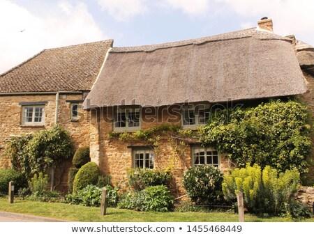 Oxfordshire pueblo Inglaterra casas hogares Inglés Foto stock © andrewroland