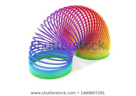 Rainbow spiral spring Stock photo © m_pavlov